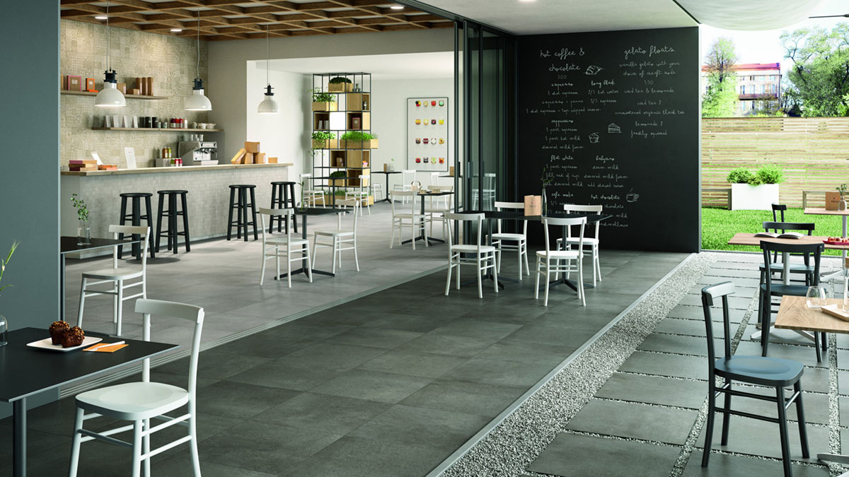 Cement-effect Tiling  The New Polished Concrete Floor